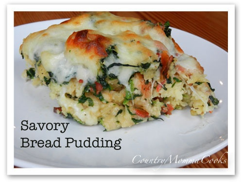 Savory Bread Pudding | Food and Drink | Pinterest