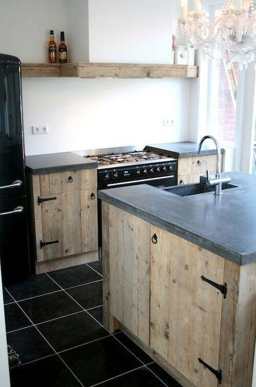Keuken Hout Beton : Keuken Van Steigerhout