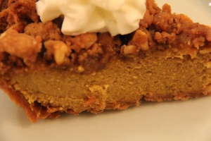 Bourbon-Laced Pumpkin Pie with Walnut Streusel