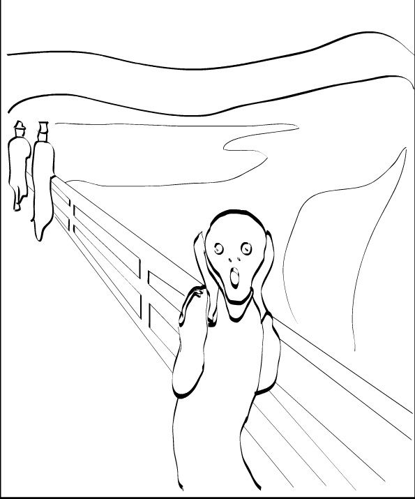 Munch Free Coloring Pages