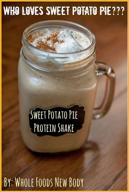 sweet potato pie protein shake
