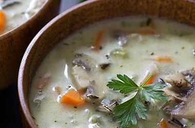 Creamy Wild Rice & Mushroom Soup — Punchfork