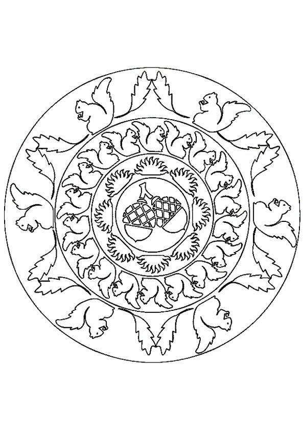 Autumn fall mandala mandala 39 s zentangles pinterest for Fall mandala coloring pages