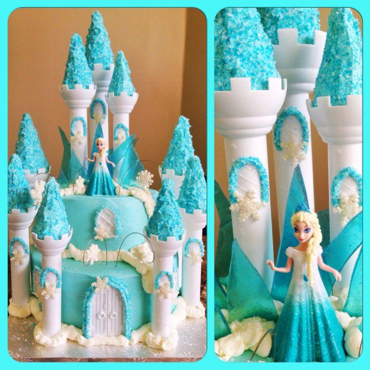 Elsa Castle Cake Decoration : Elsa s Frozen Castle Cake by me :) Kids Birthday Party ...