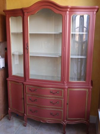 Vintage china hutch cabinet chic french vintage hutch pinterest