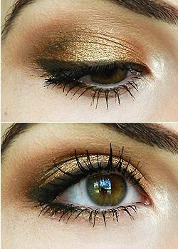Golden Bronze eyeshadow tutorial
