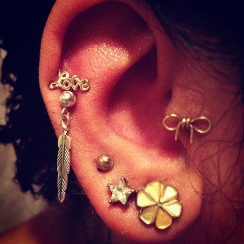 Pretty Ear Piercings | In a Perfect World | Pinterest