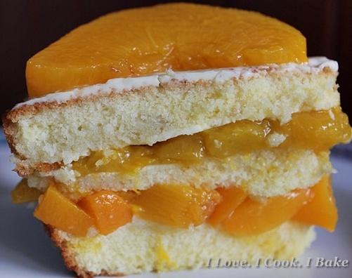 Mango & Peach Layered Sponge Cake | Cakes | Pinterest