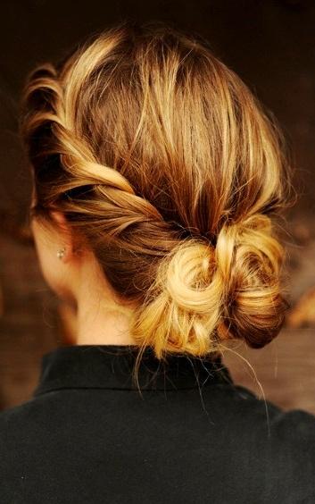 easy to do | Quick hair ideas - Hair buns | Pinterest