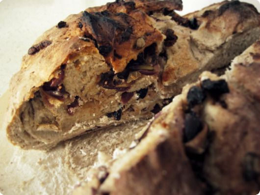 Goat Cheese and Olive Loaf! Oh my lord. Someone make this for me now ...