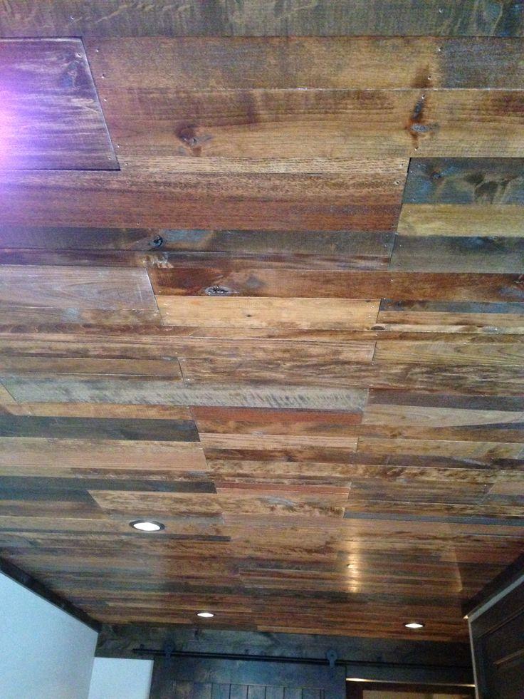 wood ceiling basement ideas pinterest