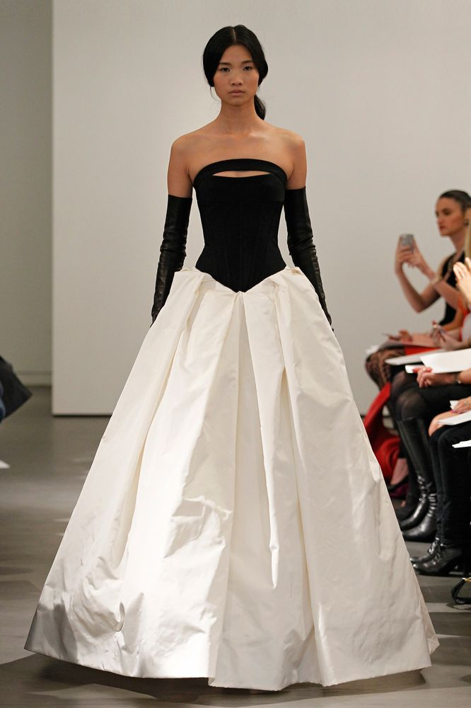 Vera wang 2014 haute couture fashion pinterest for Leather wedding dresses black