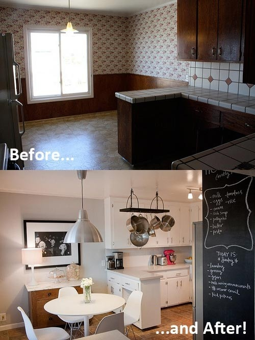 Painted Cabinets Before And After Pinterest