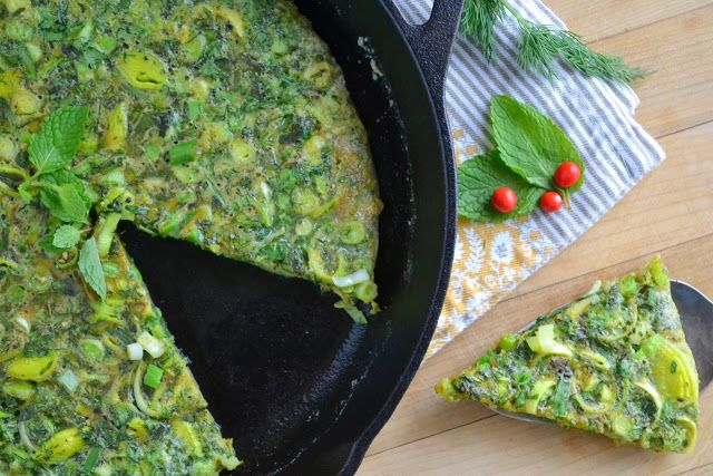 Persian Mixed Herb Frittata (Kuku Sabzi) - The View from Great Island