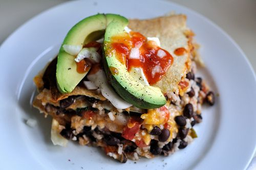easy vegetarian tortilla pie | Yummy Meals... mmm | Pinterest