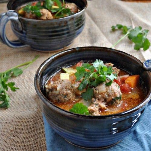 Albondigas Soup Recipe | One Pot Meals | Pinterest