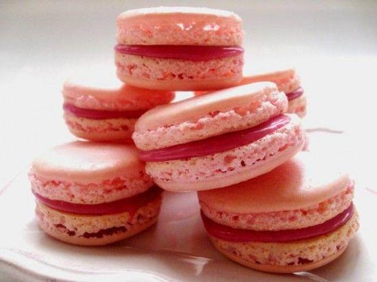 Rose Macaroons with Raspberry Ganache | Recipe - Dessert | Pinterest