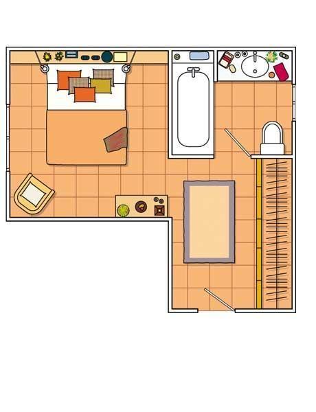 Diseno De Habitacion Matrimonial Con Baño:Dormitorio con baño integrado y vestidor