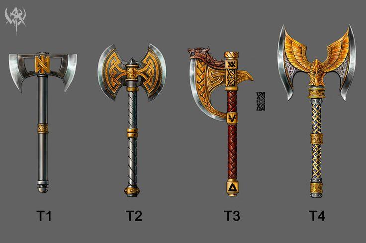 Dwarven two handed axes | Dwarven Design Insperation ...