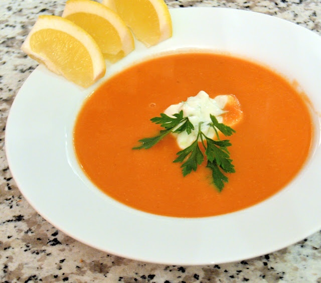 Red Lentil Soup- creamy lentil based soup with veggies and eye popping ...