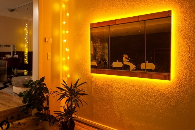 TerrassenUberdachung Holz Beleuchtung Led ~ Coole LED Beleuchtung für Fotoleinwand einfach selber machen