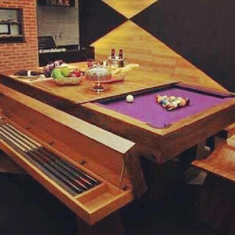 Dining room table pool table baby stuff pinterest for Pool table dining room table