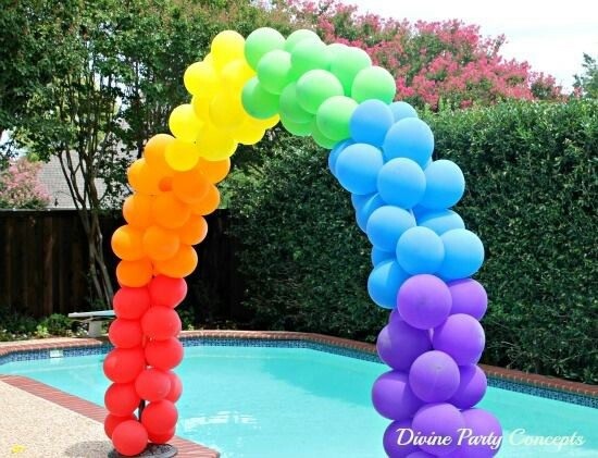 Cool balloon arch do it yourself pinterest for Balloon decoration instructions