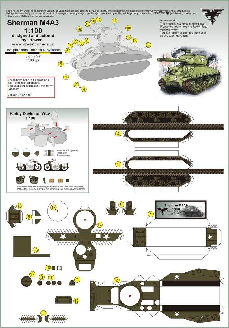 Танки world of tanks из бумаги