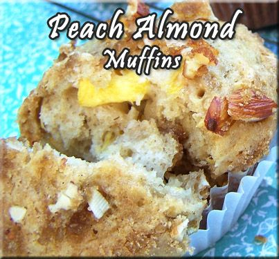 Peach Almond Muffins Recipe from Baby Babkas