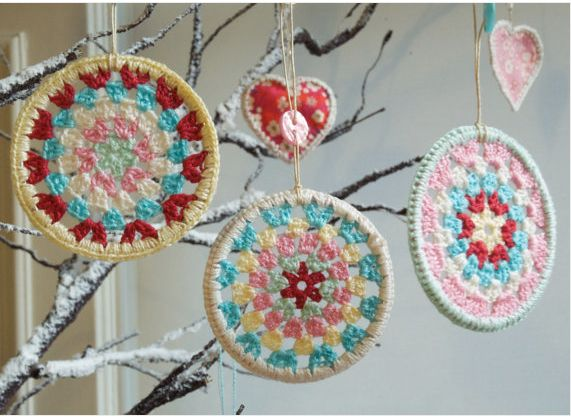 Crochet Christmas Ornaments : Crocheted Christmas Tree Ornament Patterns