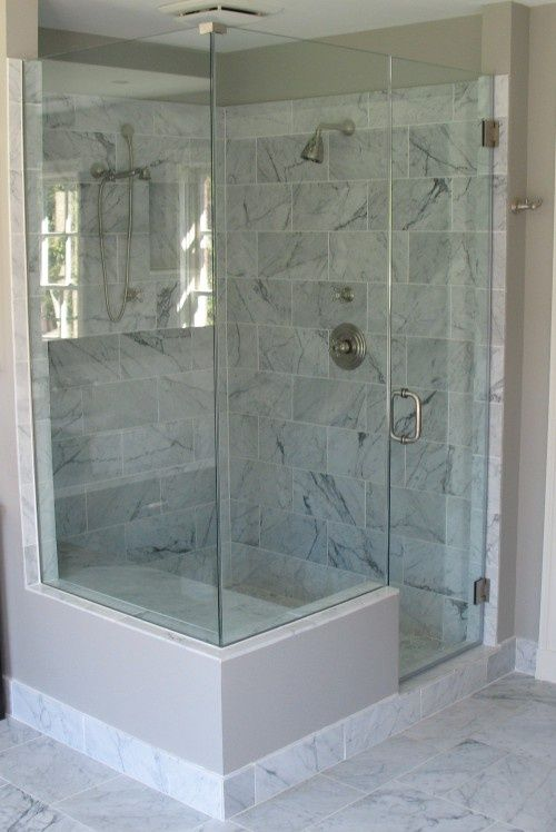 Carrera marble shower facelift home sweet old new for Carrera bathroom ideas