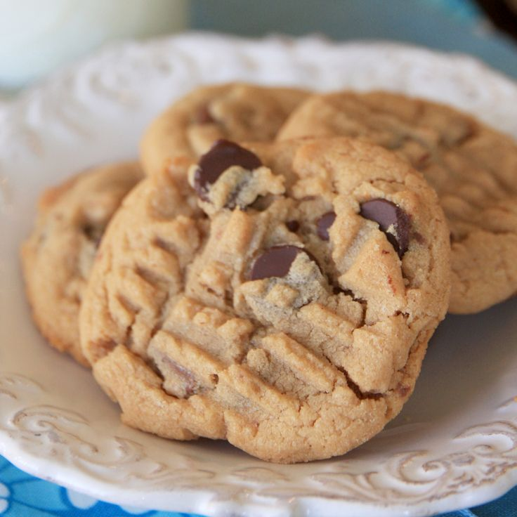 Peanut Butter Chocolate Chunk Cookies | Sweeties | Pinterest