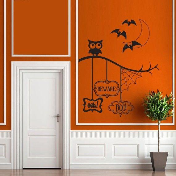 Pinterest Halloween Wall Decor : Wall art too halloween tricks or treats with vinyl