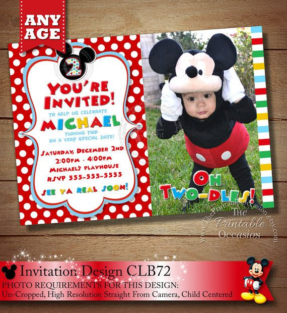 Mickey Mouse 2Nd Birthday Invitations and get inspiration to create nice invitation ideas