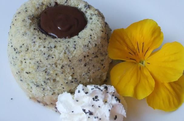Poppy Seed Squares WIth Chocolate Tips Recipes — Dishmaps