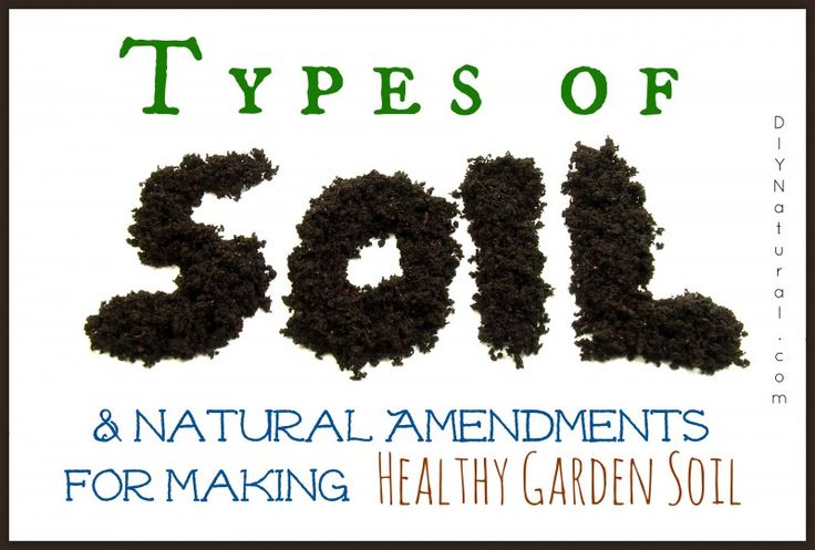 Soil types and natural soil amendments for Different uses of soil