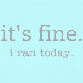 """Wrong attitude to have 70% of the time """"another cupcake?"""" """"it's fine, I ran today"""" lol so me"""