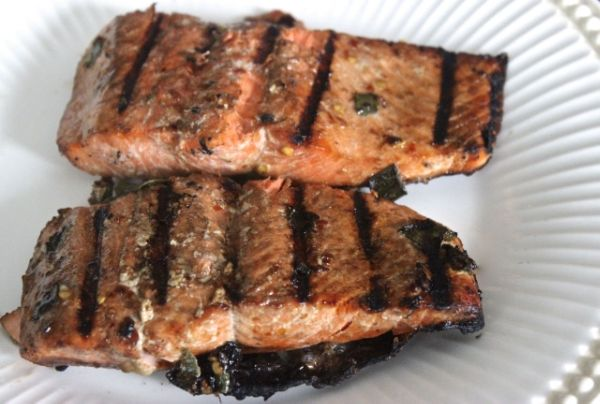 Grilled Firecracker Salmon | The Barbee Housewife | Pinterest