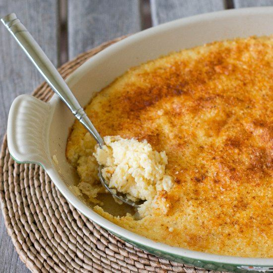 Grits Casserole recipe from The Right Recipe website. No butter.