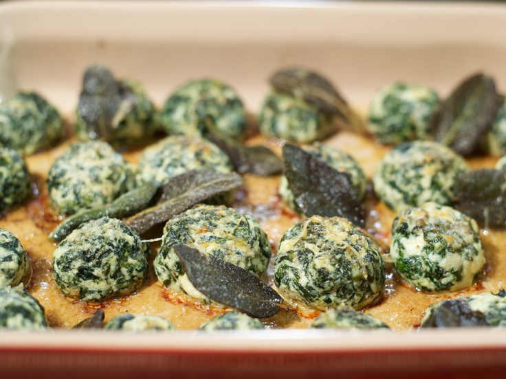 Spinach and Ricotta Gnocchi from CookingChannelTV.com
