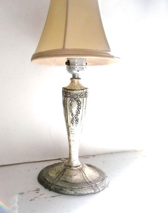 antique french country table lamp silverplated lighting french chic. Black Bedroom Furniture Sets. Home Design Ideas