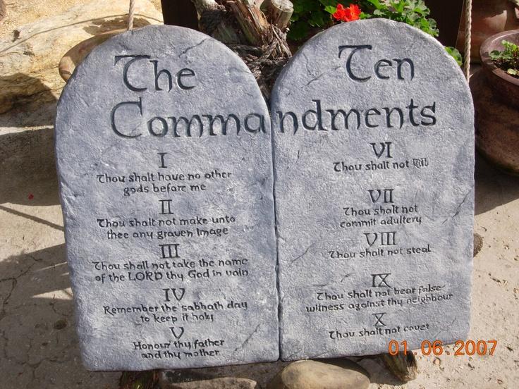 Ten Commandments   printables   Pinterest