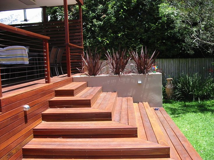 deck steps open plan design residential planners