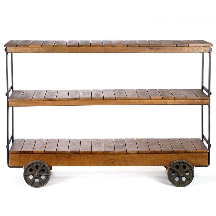 Bradbury rustic console display crash industrial style furniture