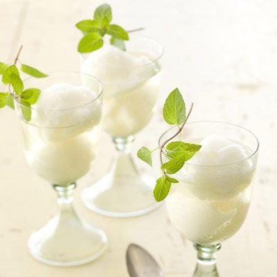 Sgroppino. 1 pint(s) lemon sorbet 2 cup(s) Prosecco (Italian sparkling ...