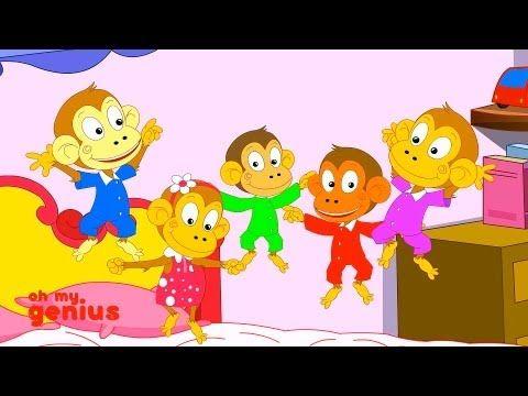 five little monkeys sitting in a tree activities
