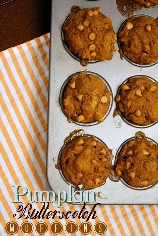 Pumpkin Butterscotch Muffins | Food | Pinterest