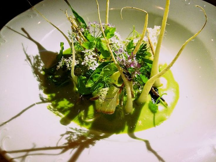 "... taro ""vichyssoise"", parsley root, chinese celery, vietnamese herbs"