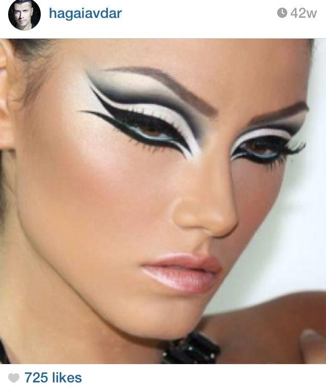Great Dramatic High Fashion Makeup Vanity Pinterest