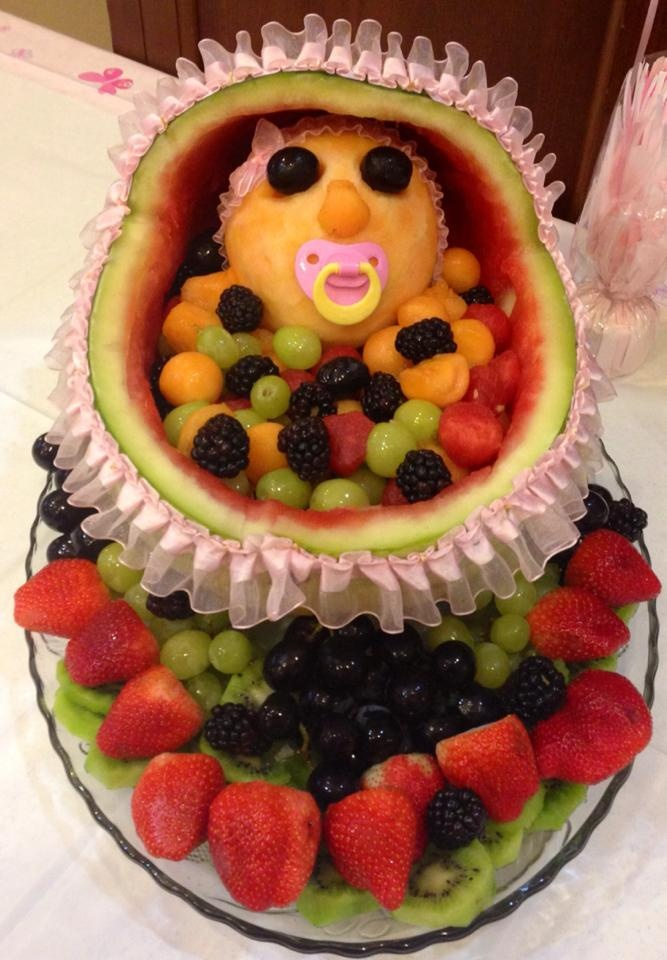 baby shower fruit tray